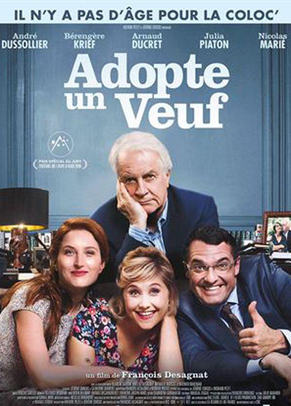 """Affiche """"Adopte un veuf"""" avec Ducret et Dussolier"""