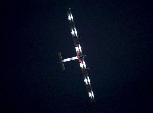 Solar Impulse en juin 2015, peu avant son atterrissage au Japon