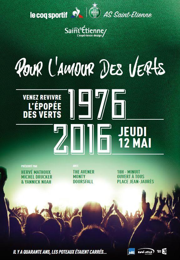 L'affiche de la soirée du 12 mai, place Jean Jaurès