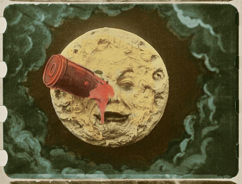 Le Voyage dans la Lune coloré, 1902