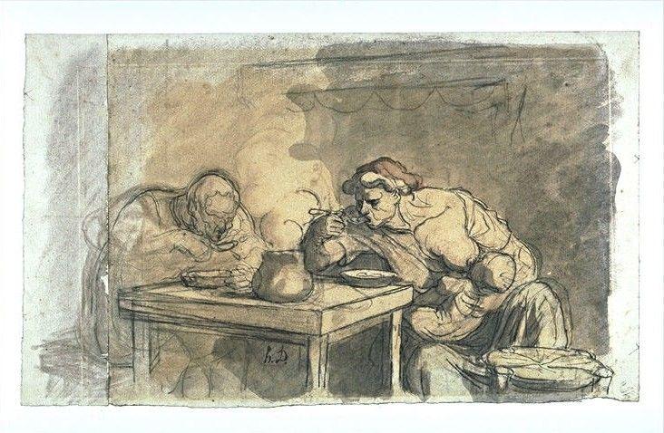 Honoré Daumier, La soupe (vers 1864-1865)