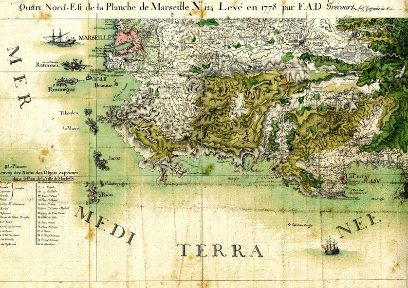 Minute de la carte de Marseille, première version