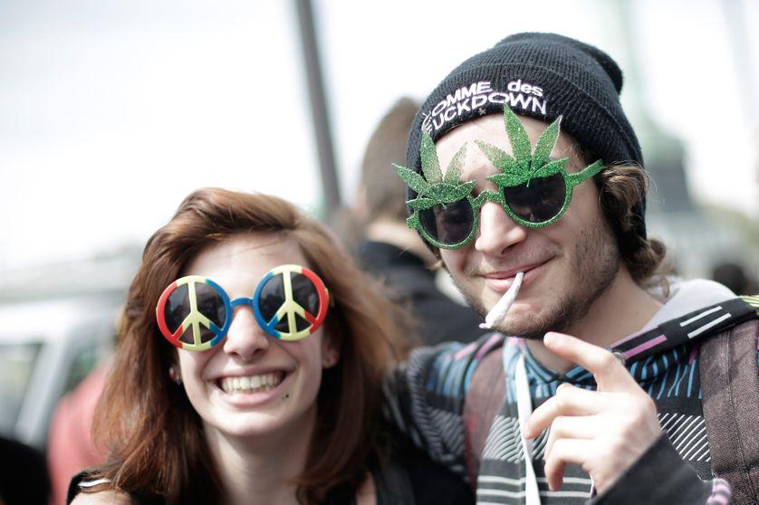Lors de la marche mondiale pour le cannabis de 2013