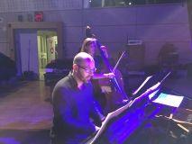 Au piano Manuel Peskine et à la contrebasse Alice Hocquet