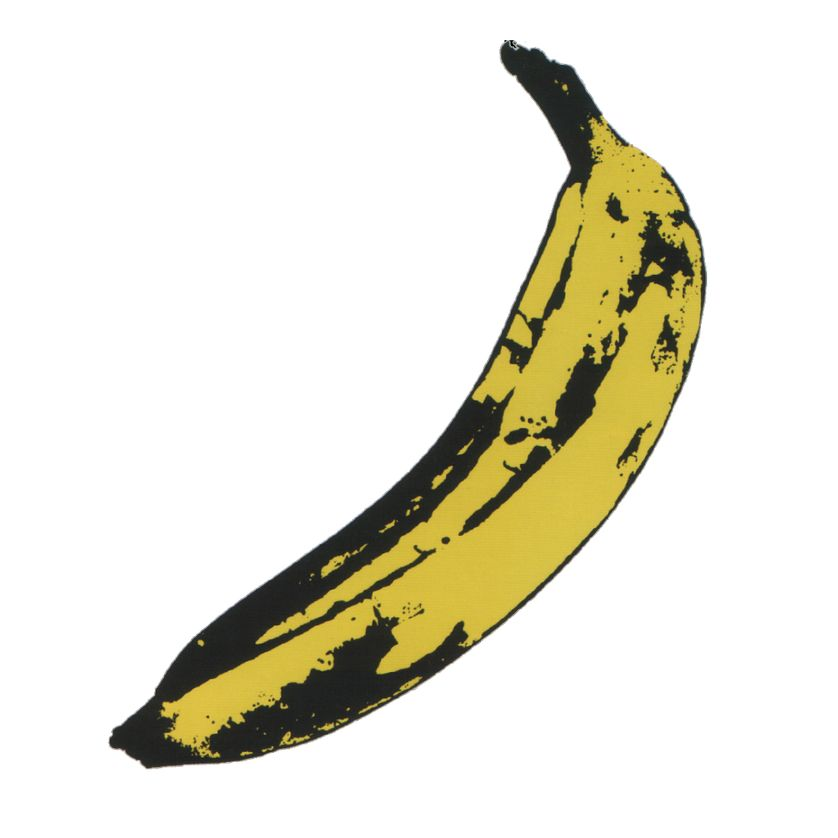 "Visuel par Warhol du premier album, ""The Velvet Underground and Nico""."