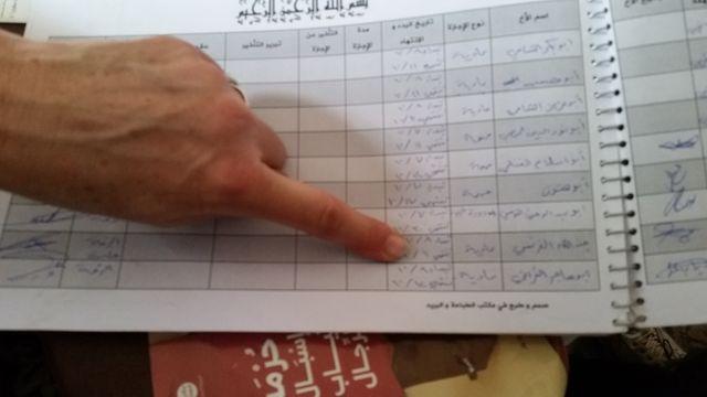 Registre de Daech avec permissions des combattants. Ici le nom d un français : Junde Allah Al Ferencie