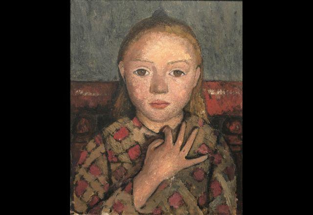 Portrait de jeune fille, les doigts écartés devant la poitrine-1905