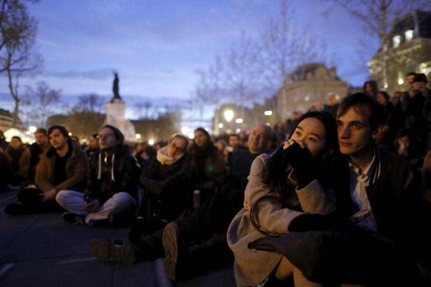 Nuit Debout, place de la République à Paris