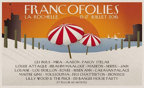 Les Francofolies 2016 (affiche)