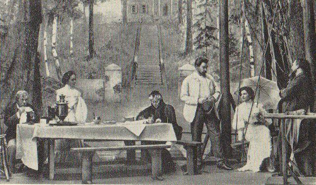 Représentation d'Oncle Vania au Théâtre d'Art (1899).