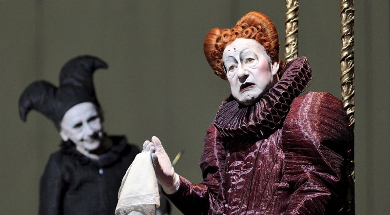 Ruth Gloess et Juergen Holtz dans 'Shakespeares Sonette' de R.Wilson 2009