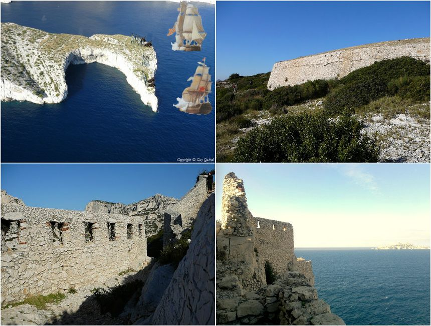 L'attaque du cap le 2 mai, le mur de la batterie et le Fortin du Renard