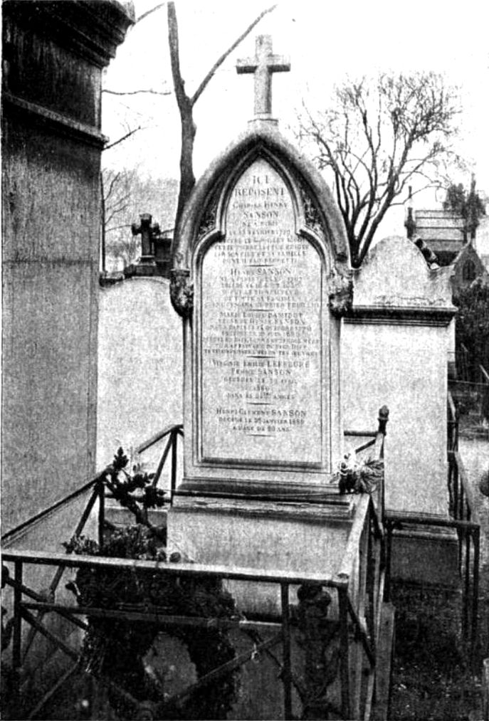 The Headstone of the Sanson family, French executioners