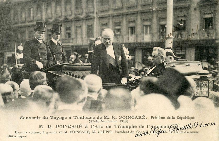 Raymond Poincaré à Toulouse en septembre 1913