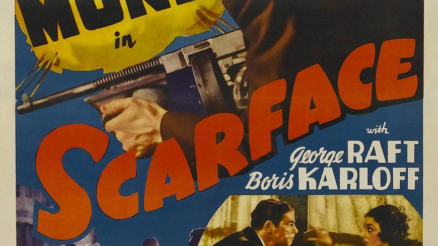 Une des premières affiches du film Scarface © Maxppp