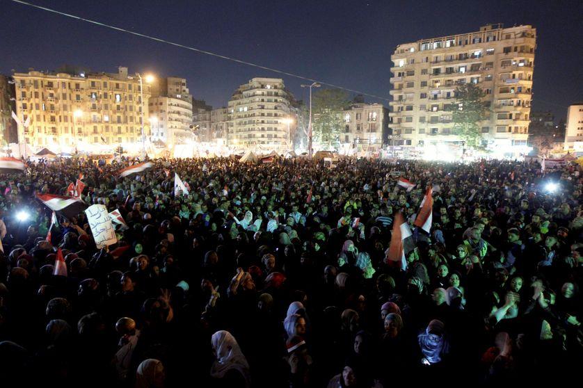 Place Tahrir, 12/2012, contre M. Morsi
