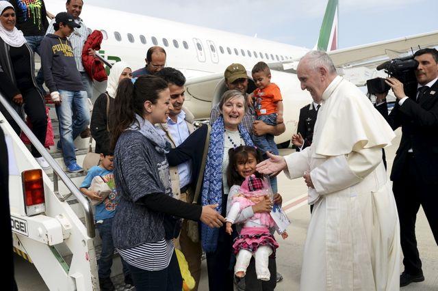 Le pape a tenu à accuillir les 12 réfugiés syriens sur le sol italien