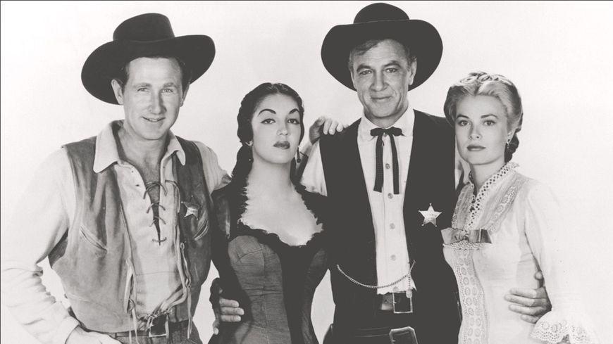 Lloyd Bridges, K.Jurado, Gary Cooper et Grace Kelly © MAxppp