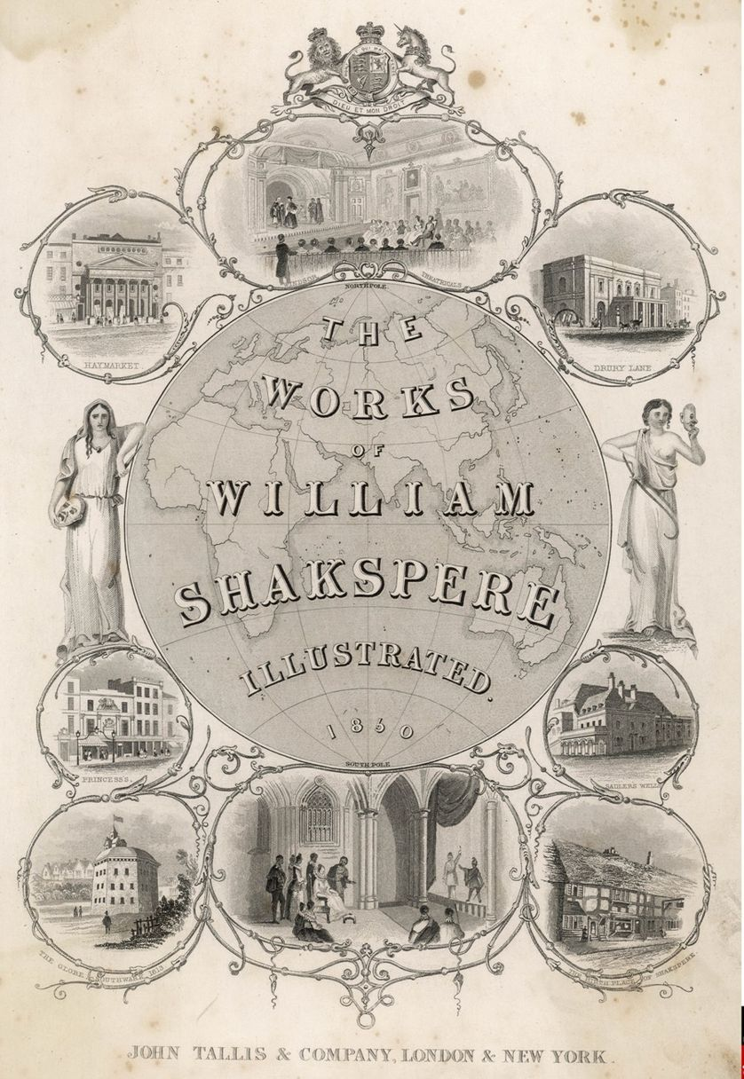 Shakespeare illustrated title page, 1850