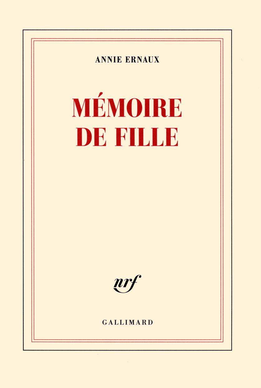 """""""Mémoire de fille"""" d'Annie Ernaux"""