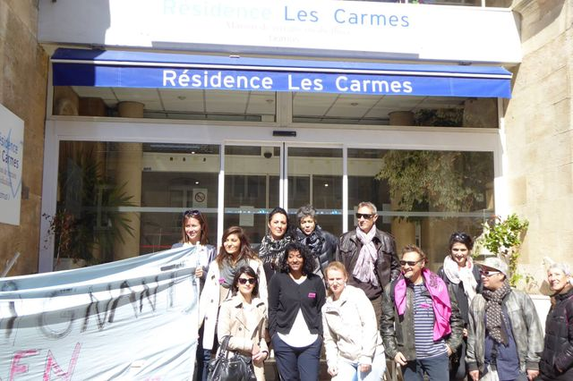 Grève à la résidence des Carmes