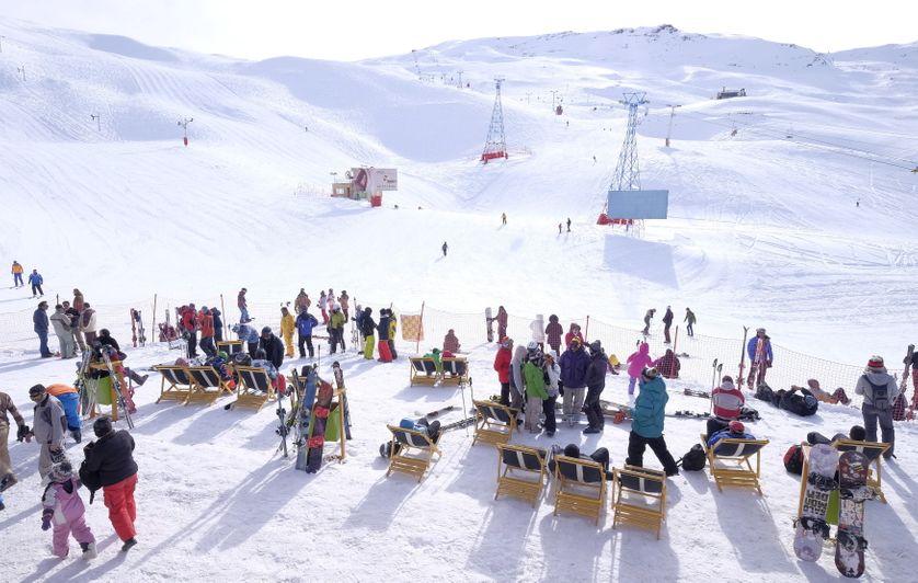 Cet hiver, la station de ski Dizin au nord-ouest de l'Iran