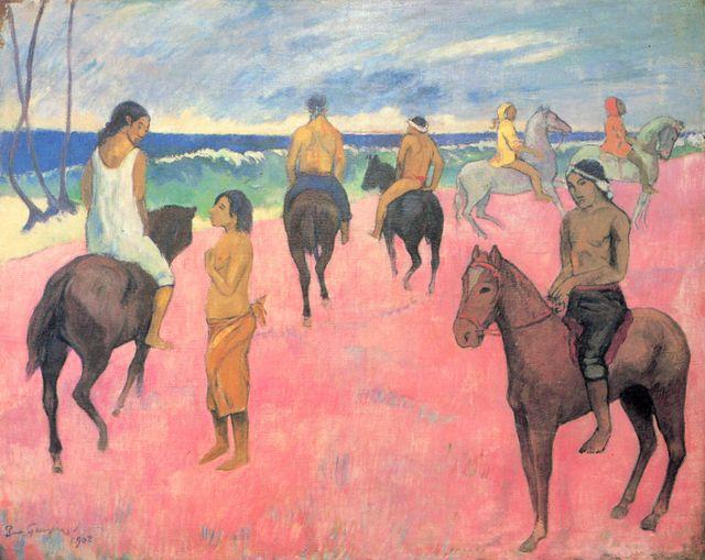 Cavaliers sur la plage (II) de Paul Gauguin - 1902