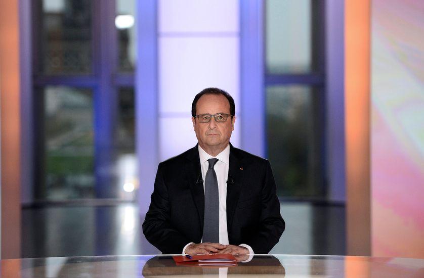 François Hollande dans l'émission Dialogues citoyens