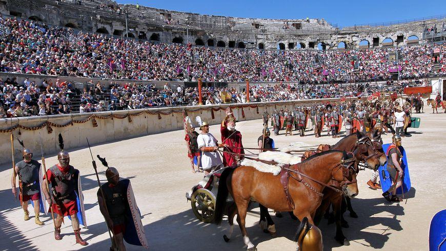 Jeux romains dans les arenes de Nimes