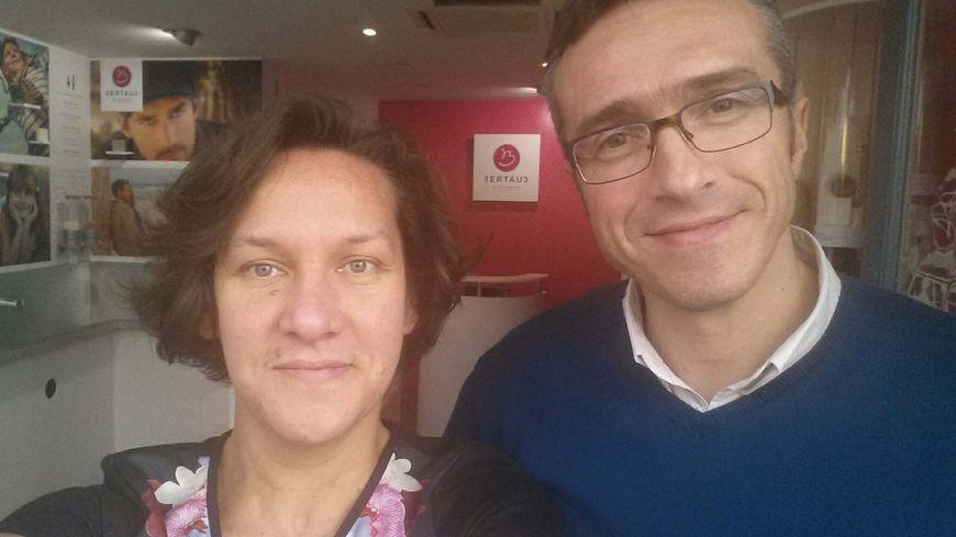 Yolaine et Jérôme Bertaud dans leur local à la Rochelle.