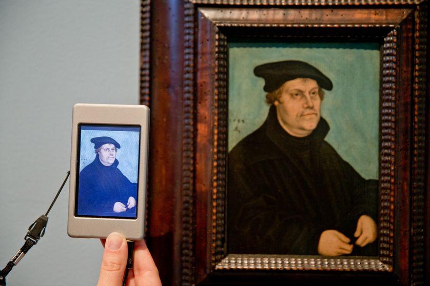 Portrait de Martin Luther par Lucas Cranach the Elder -exposition 2015 Nuremberg