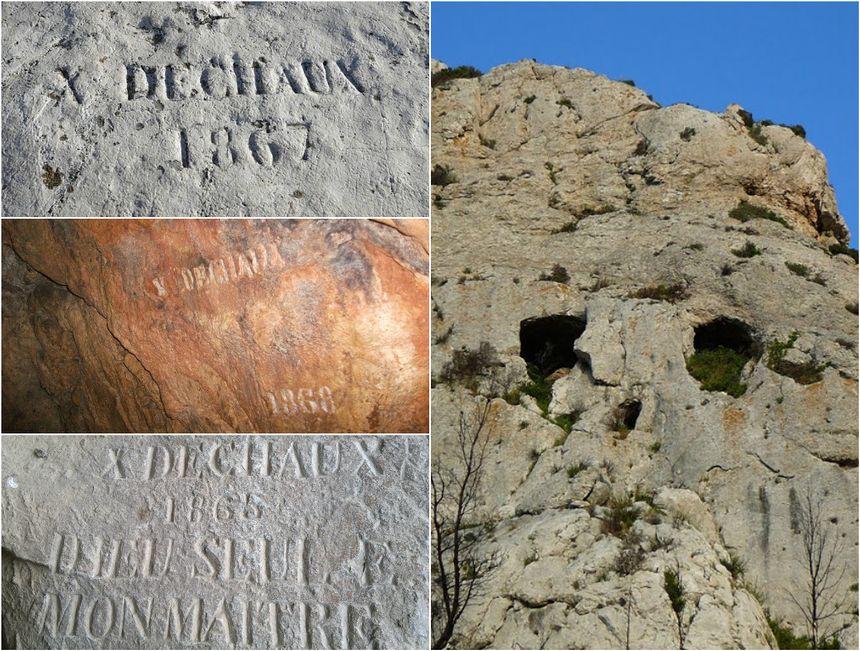 Les gravures de Xavier Dechaux et la Grotte Dechaux où il s'est suicidé