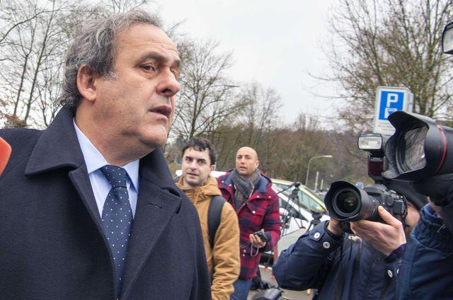 Michel Platini lors de son arrivée à la FIFA à Zurich
