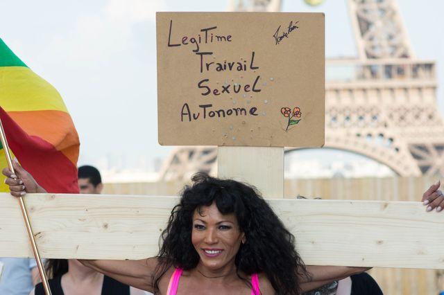 Manifestation de prostituées à Paris en juin 2015