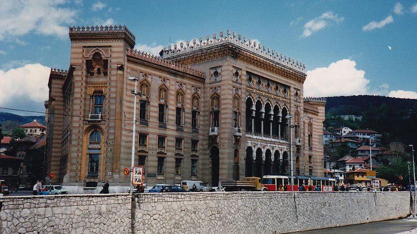 La Bibliothèque Vijecnica à Sarajevo en 1987