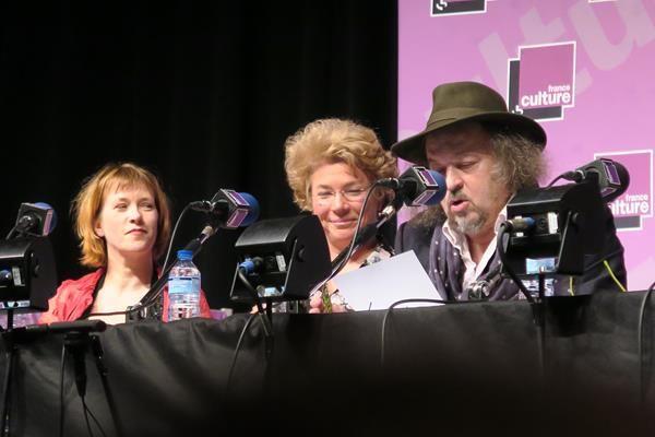 Gabrielle Godart, Odile Conseil et Patrice Delbourg.