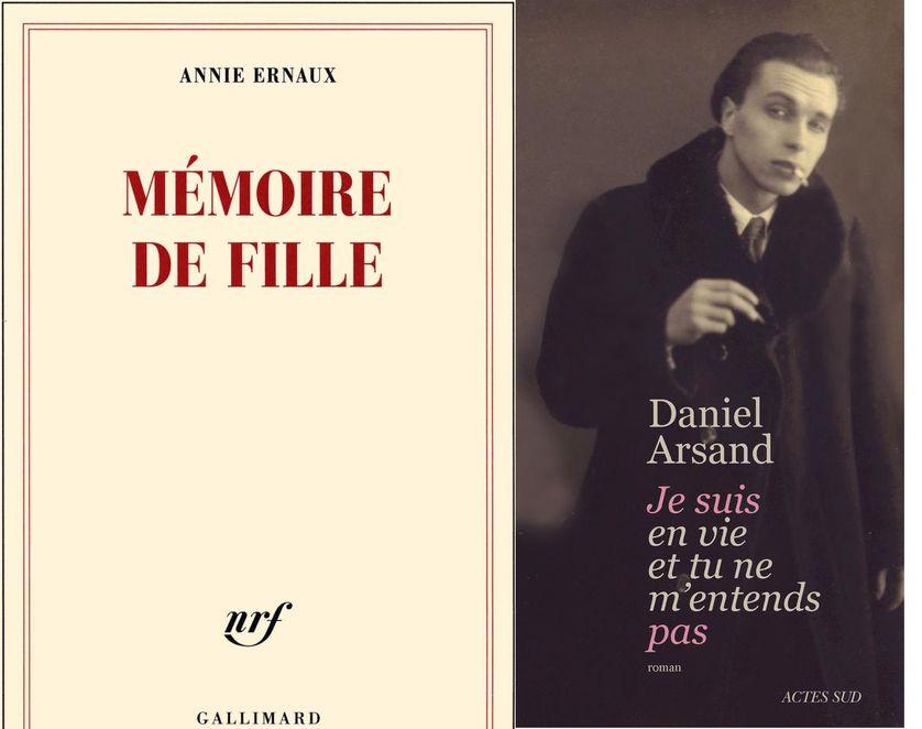"""""""Mémoire de fille"""" et """"Je suis en vie et tu ne m'entends pas"""""""