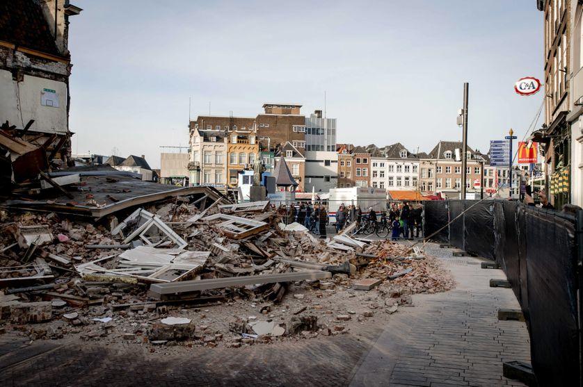 Un immeuble effondré aux Pays-Bas en février 2016