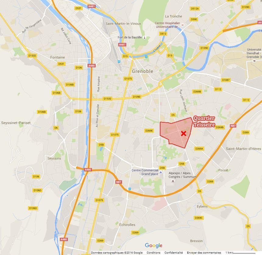 La quartier Teisseire à Grenoble