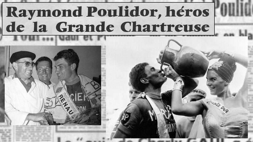 Poulidor remporte la 19e étape du Tour de France entre Briançon et Aix-les-Bains