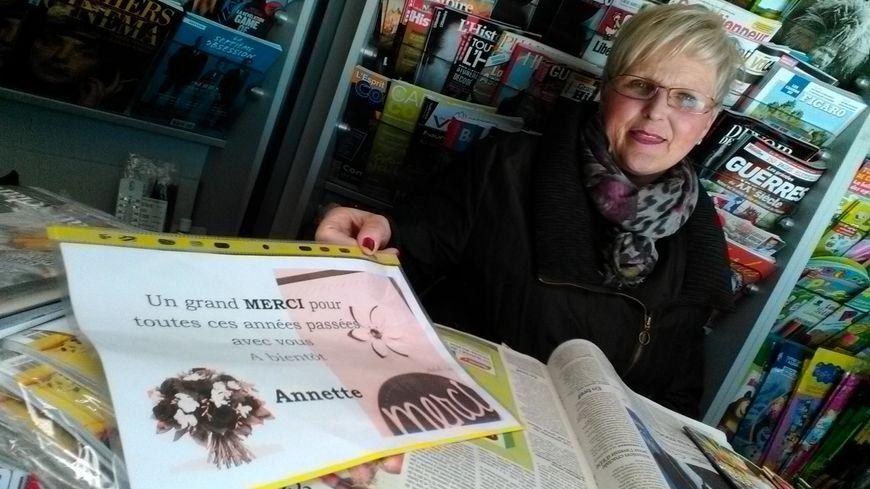 Annette Weytens a passé 39 ans dans son kiosque !