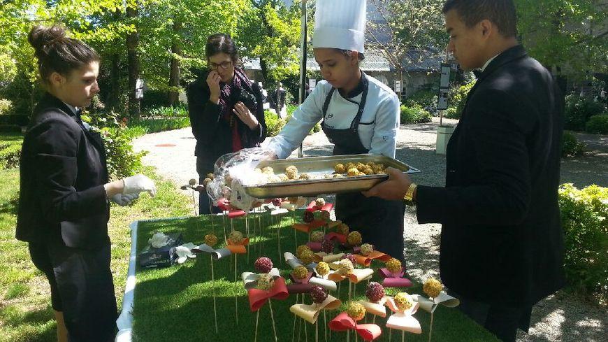 Seize élèves suivent cette formation design culinaire à Largentière.