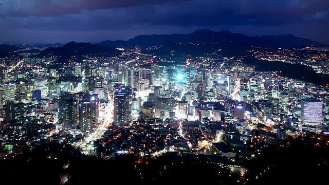 Séoul by night