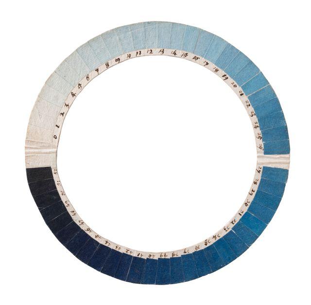 Cyanomètre inventé par H-B. de Saussure pour mesurer l'intensité du bleu du ciel