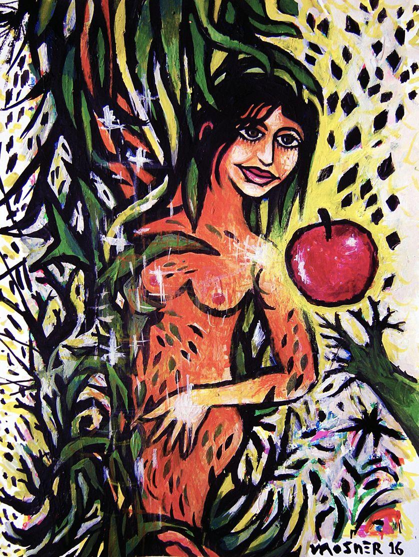 Eva en son jardin