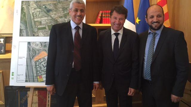 Christian Estrosi, Boubakeur Bekri (CRCM) et l'Imam Otmane Aissaoui