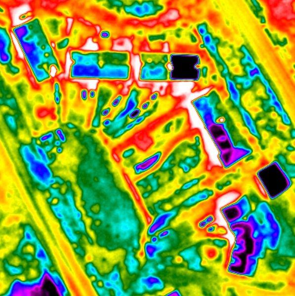 Thermographie aérienne pour repérer les fuites thermiques