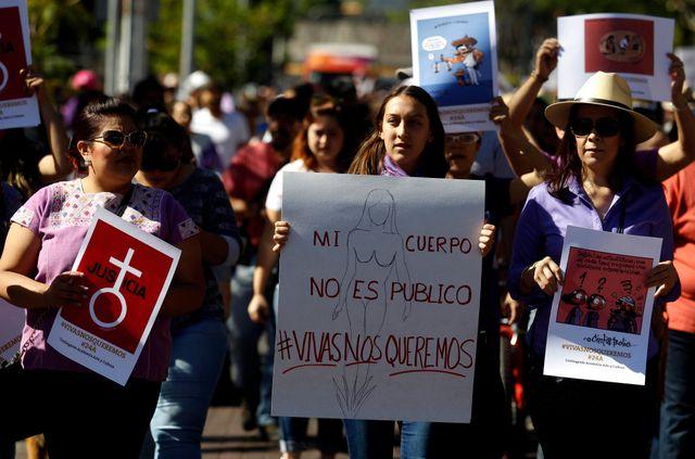 Manifestation contre les violences faites aux femmes, Mexico, 24 avril 2016