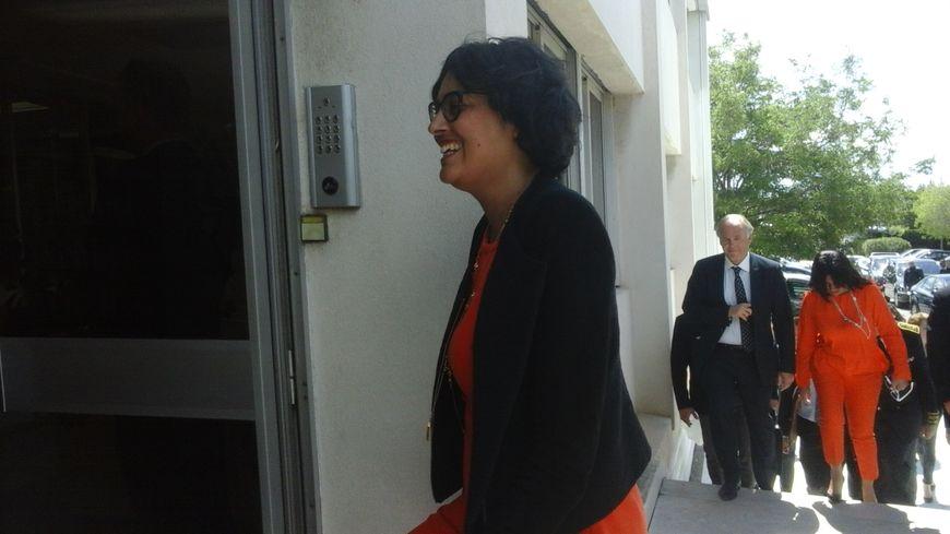 Myriam El Khomri à son arrivée dans la société AgroFarm