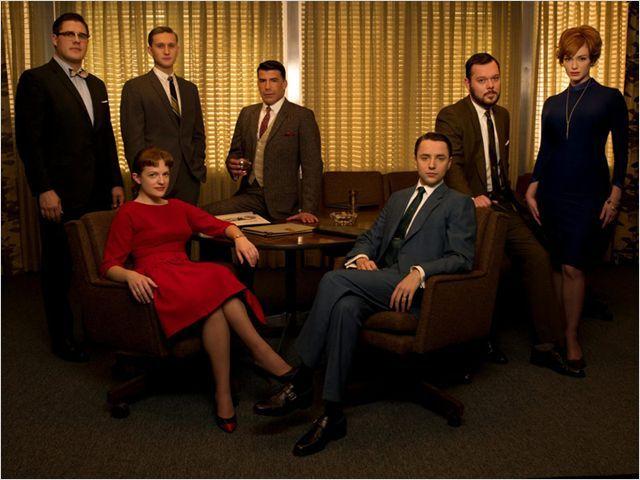 """Quelques acteurs de la série """"Mad Men"""" qui met en scène des publicitaires"""